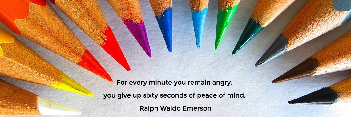 For every minute you remain angry, 