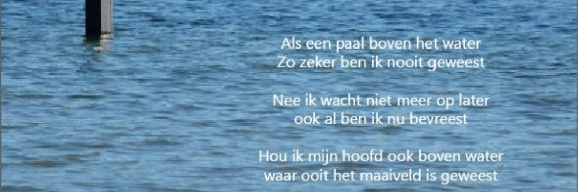 Paal boven water