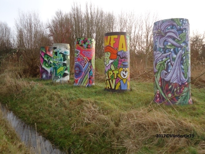 Graffiti is een aparte kunst.