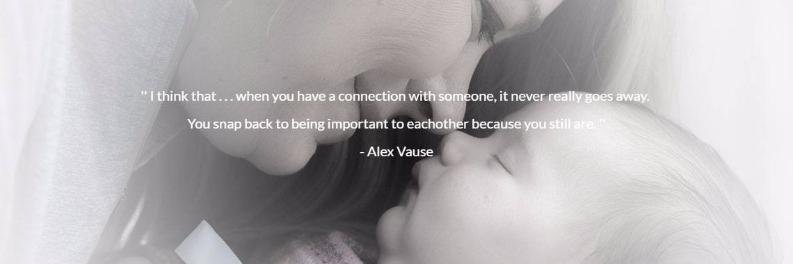 '' I think that . . . when you have a connection with someone, it never really goes away. 