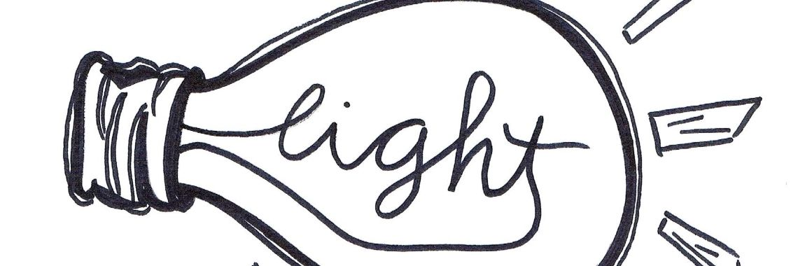 Handlettering - be the light