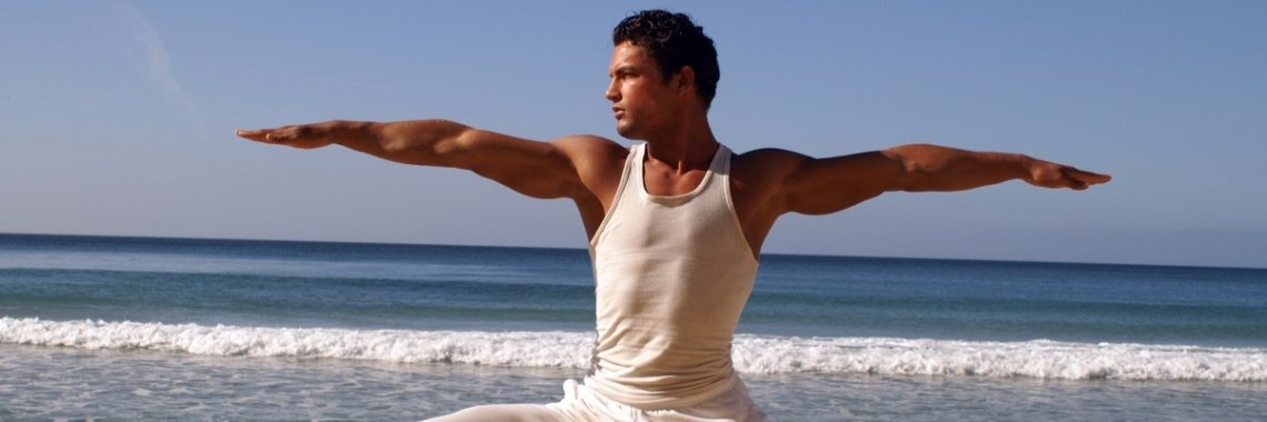 Stelling: Yoga aan de man brengen... Forget it!!