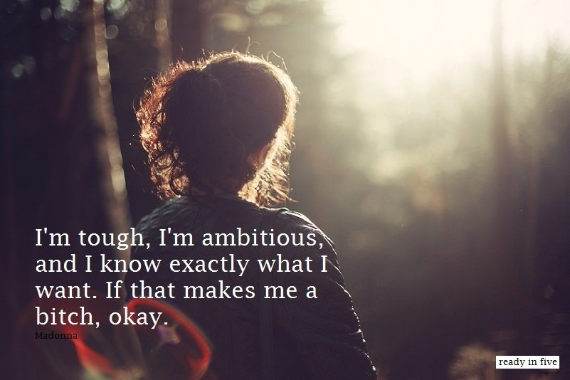 Quote: I'm tough