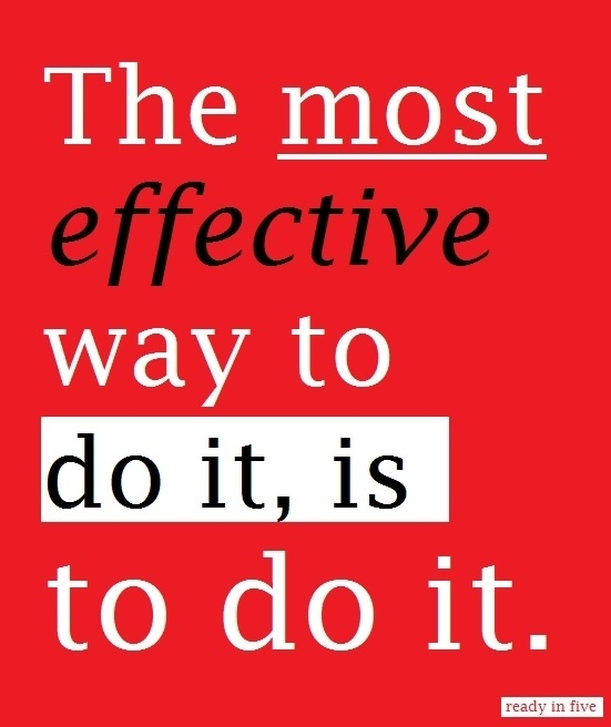 Quote: The most effective way
