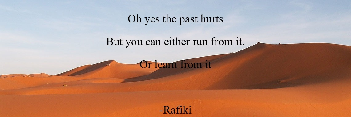 Oh yes the past hurts