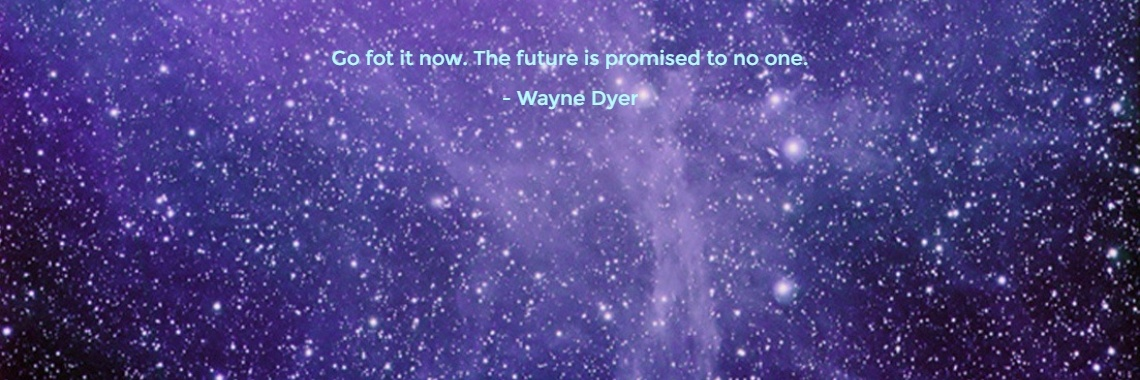 Go fot it now. The future is promised to no one. - Wayne Dyer