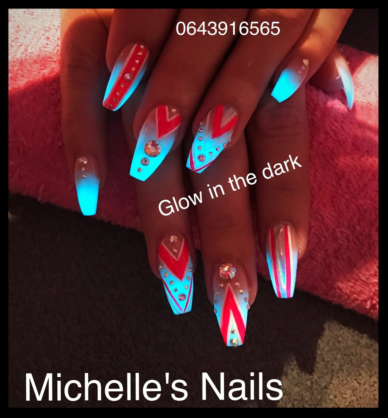 Glow In The Dark Nails Nail Art Nailart