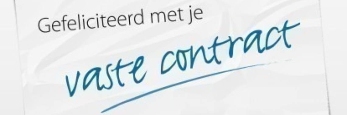 gefeliciteerd vast contract