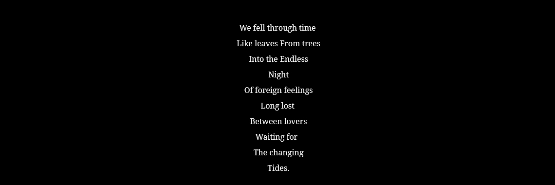 We fell through time