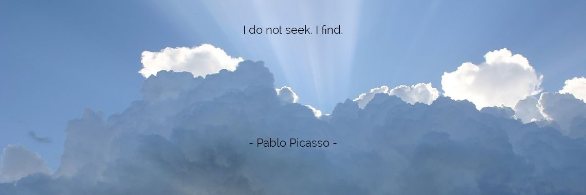 I do not seek. I find.