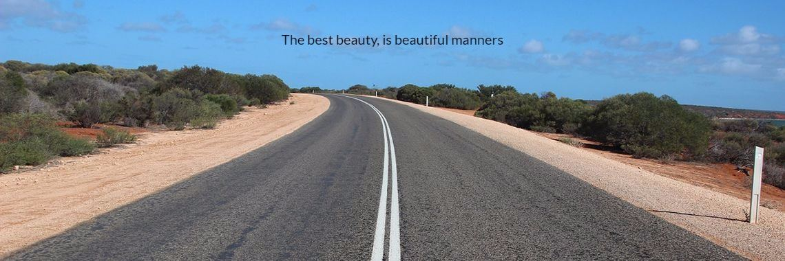 The best beauty, is beautiful manners