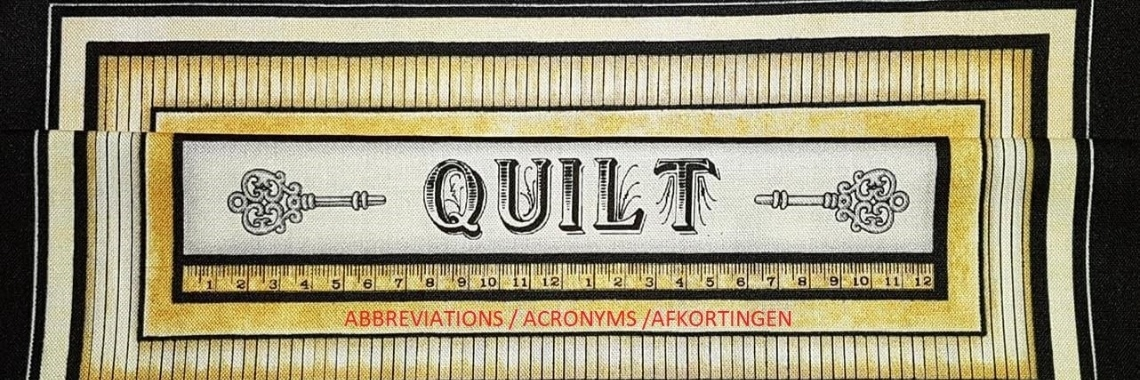 The complete list of Quilting Abbreviations