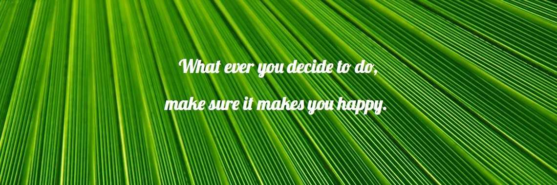 What ever you decide to do,