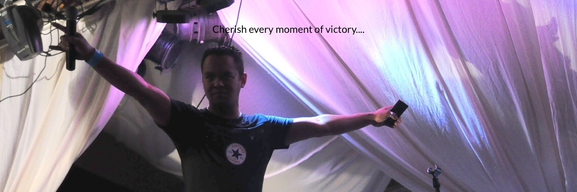 Cherish every moment of victory....