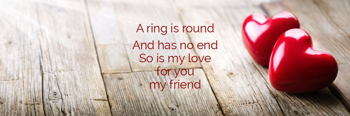 This ring is round and has no end