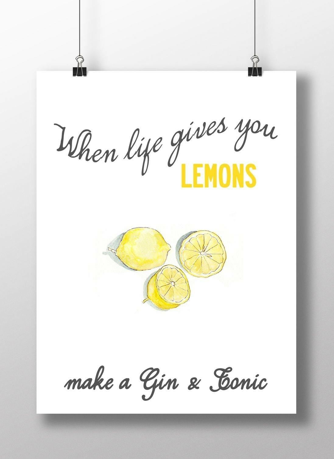 When Life Gives You Lemons Positieve Vibe Quote Kop Op
