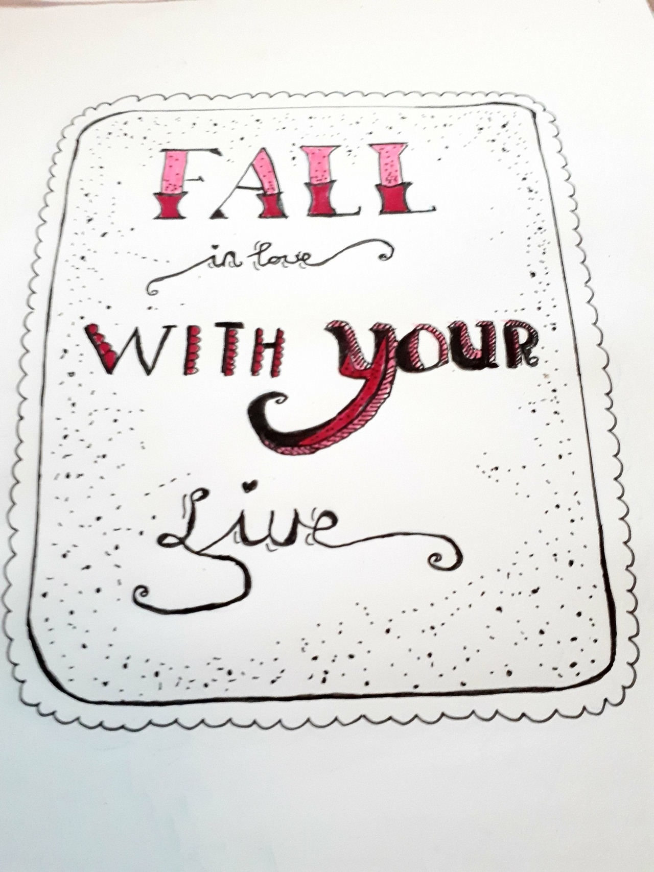 Quote / handlettering/ fall