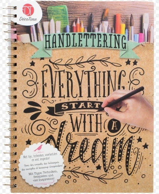 Boek Handlettering bij Action! Everything start with a dream - DecoTime