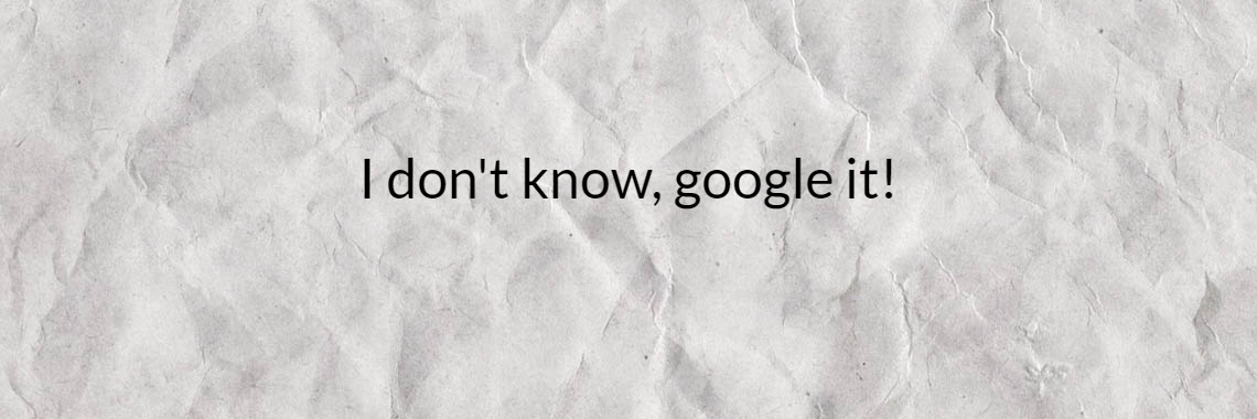 I don't know, google it!