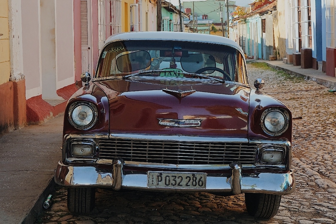 Classic taxi car on Cuba