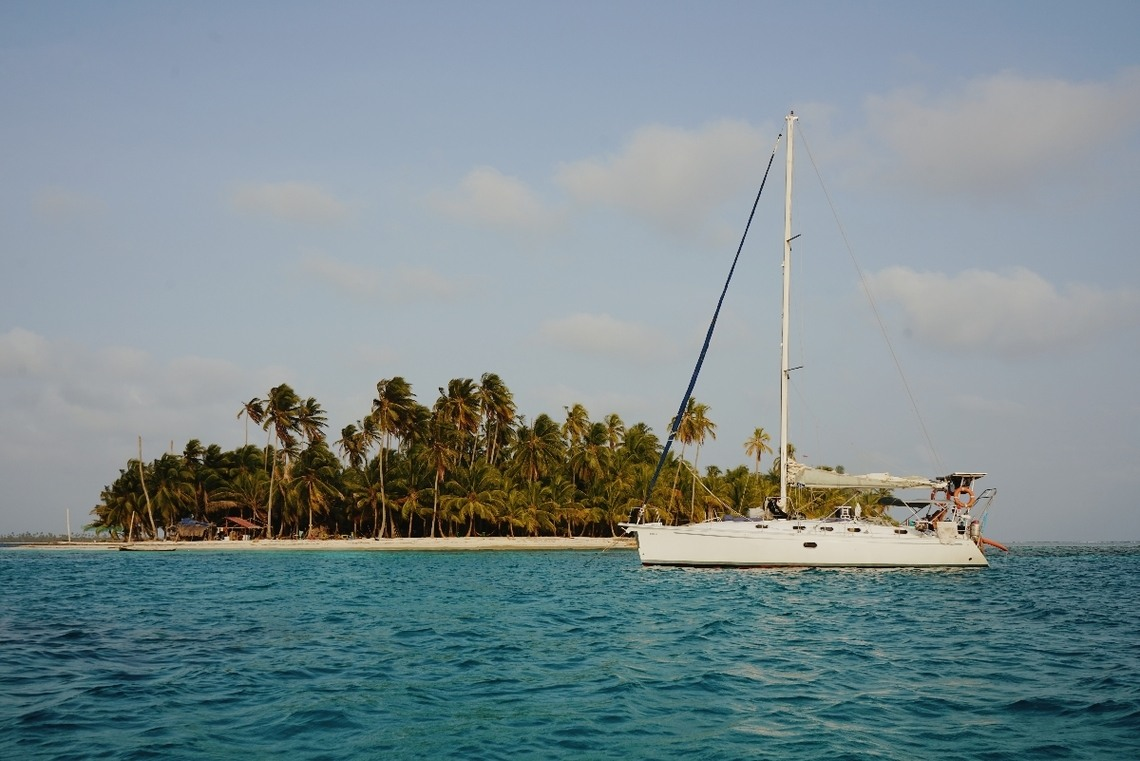 San Blas islands sailing boat Panama Colombia